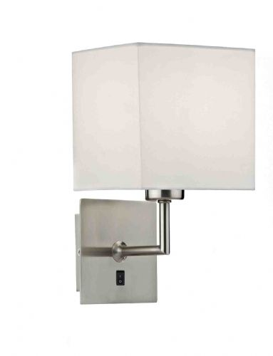Tibet 1-light Satin Chrome Wall Light TIB0746